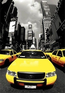 POSTERS 3D plakát NEW YORK - yellow cabs, (30 x 42