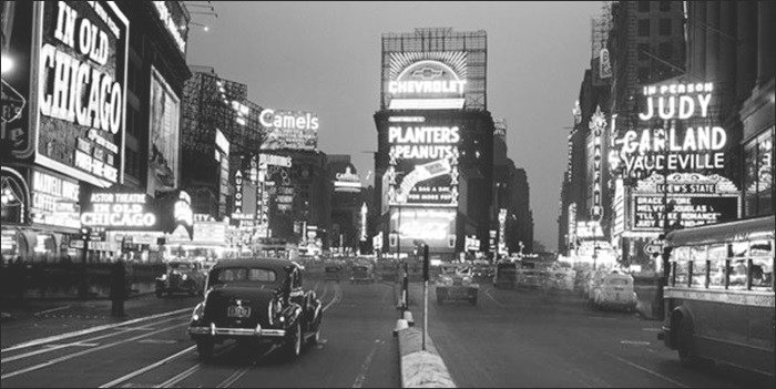 MIGNECO-SMITH Print Times square, 1938 , (100 x 50