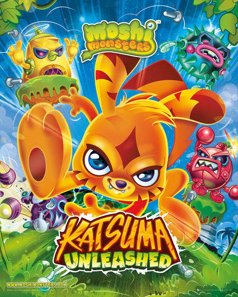 Plakát, Obraz - Moshi monsters - Katsuma Unleashed, (40 x 50 cm) FAVI.cz