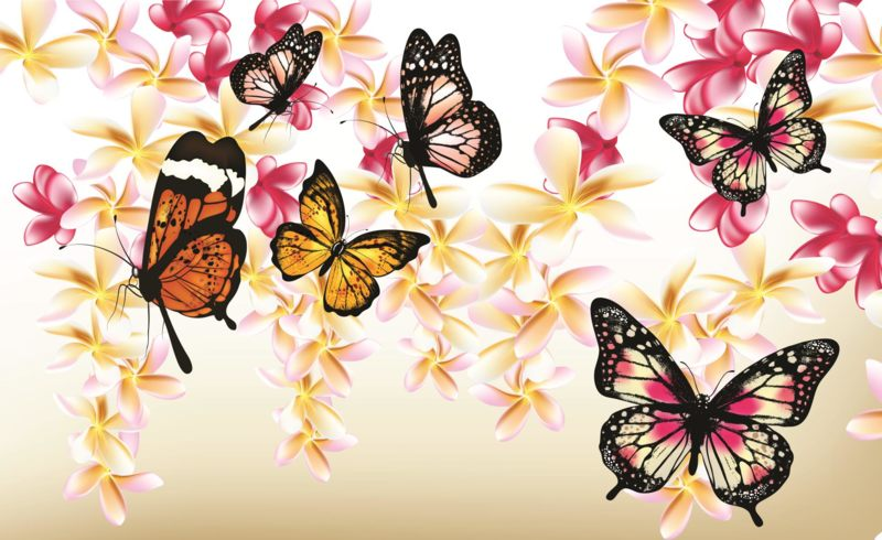 Fototapeta Butterflies on the tree vlies 208 x 146