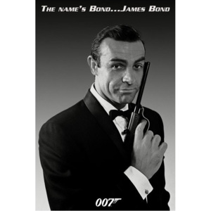 Plakát, Obraz - James Bond 007 - the name is bond, (61 x 91,5 cm)
