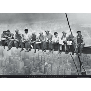 Plakát, Obraz - Men on girder - New York, (91,5 x 61 cm)