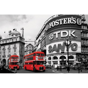 Plakát, Obraz - London red bus - piccadilly circus, (91,5 x 61 cm)