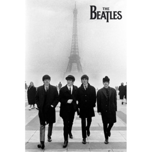 Plakát, Obraz - Beatles - in paris, (61 x 91,5 cm)