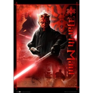 STAR WARS - darth maul 3D Plakát, 3D Obraz, (47 x 67 cm)
