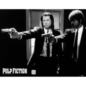 Plakát, Obraz - Pulp fiction - guns, (50 x 40 cm)