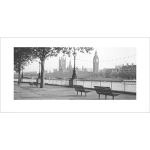 Obraz, Reprodukce - Houses of Parliament & The River Thames, Anon, (100 x 50 cm)