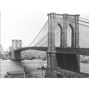 Obraz, Reprodukce - New York - Brooklyn bridge, A. LOEFLER, (80 x 60 cm)