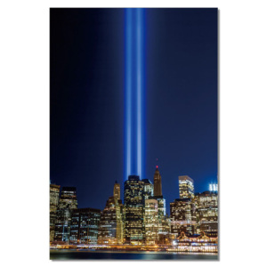 Obraz na zeď - New York - Tribute in Light, (80 x 120 cm)