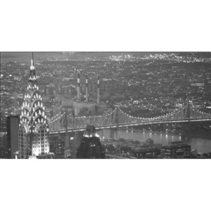 Obraz, Reprodukce - New York - The Chrysler Building and Queensboro bridge, MURAT TANER, (140 x 70 cm)