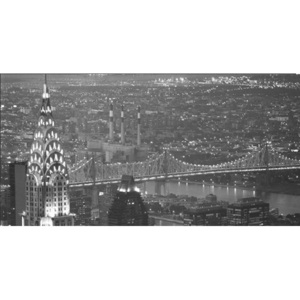 Obraz, Reprodukce - New York - The Chrysler Building and Queensboro bridge, MURAT TANER, (100 x 50 cm)