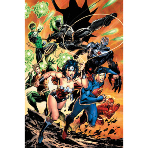 Plakát, Obraz - DC Comics - Justice League Charge, (61 x 91,5 cm)