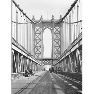 Obraz, Reprodukce - Manhattan bridge Tower and roadway, 1911, (80 x 60 cm)