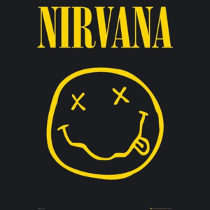 Plakát, Obraz - Nirvana – smiley, (61 x 91,5 cm)