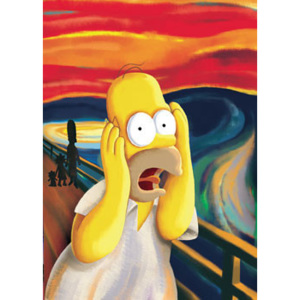 Plakát, Obraz - THE SIMPSONS - scream, (61 x 91,5 cm)