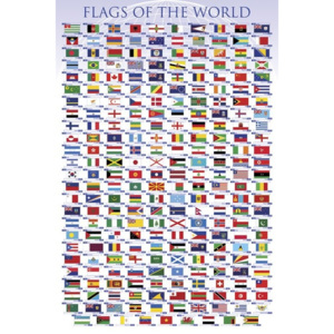 Plakát, Obraz - Flags of the world, (61 x 91,5 cm)