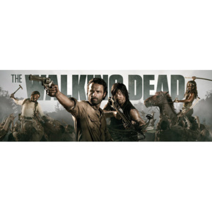 Plakát, Obraz - THE WALKING DEAD - Banner, (158 x 53 cm)