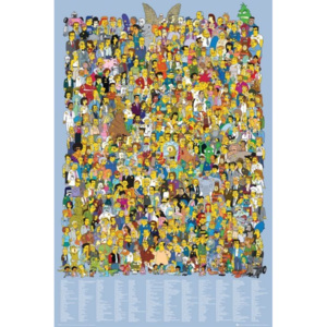 Plakát, Obraz - THE SIMPSONS - cast 2012, (61 x 91,5 cm)