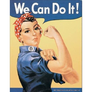 Plechová cedule ROSIE THE RIVETOR - we can do it, (32 x 41 cm)