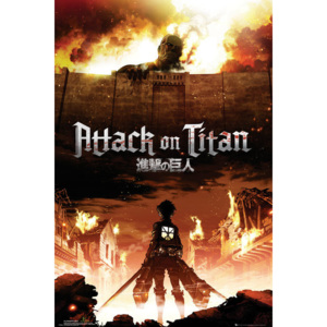 Plakát, Obraz - Attack on Titan (Shingeki no kyojin) - Key Art, (61 x 91,5 cm)