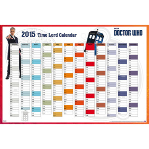 Plakát, Obraz - Doctor Who - 2015 Time Lord Calender, (91,5 x 61 cm)