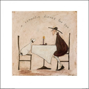 Obraz, Reprodukce - Sam Toft - A Romantic Dinner For Two, (40 x 40 cm)