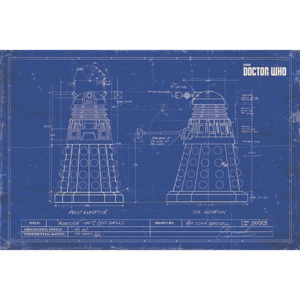 Plakát, Obraz - Doctor Who - Dalek Blueprint, (91,5 x 61 cm)