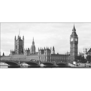 Obraz, Reprodukce - Londýn - Houses of Parliament and Big Ben, ALAN SCHEIN PHOTOGRAPHY, (100 x 50 cm)