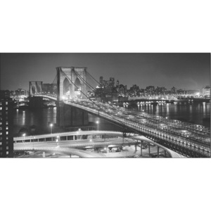 Obraz, Reprodukce - New York - Brooklyn bridge v noci, PHILIP GENDREAU, (100 x 50 cm)