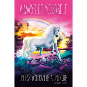 Plakát, Obraz - Unicorn - Always Be Yourself, (61 x 91,5 cm)