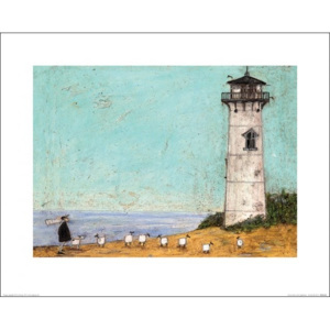 Obraz, Reprodukce - Sam Toft - Seven Sisters And A Lighthouse, (50 x 40 cm)