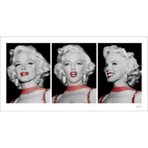 Obraz, Reprodukce - Marilyn Monroe - Red Dress Triptych, (100 x 50 cm)