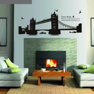 Decor4Walls Samolepka na zeď AY1935 Tower bridge 90x60cm