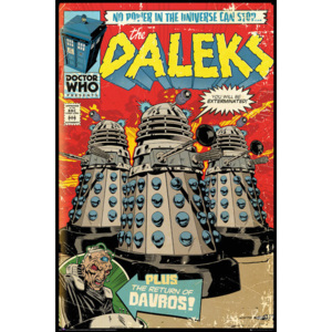 Plakát, Obraz - Doctor Who - Red Dalek Comic, (61 x 91,5 cm)