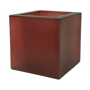 Fibreglass Square Dark Red 30x30x30cm