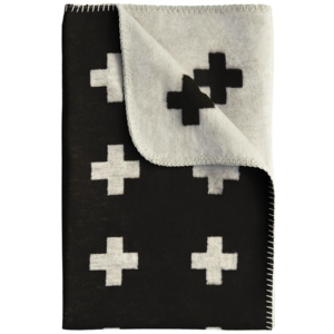 Deka Cross Blanket Black 80x125
