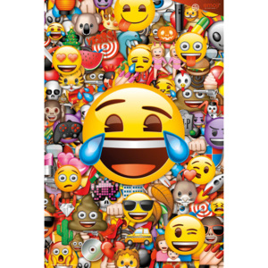 Plakát, Obraz - Emoji - Collage (Global), (61 x 91,5 cm)