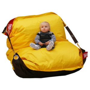 BeanBag Sedací vak 189x140 duo brown - yellow