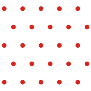 Tapety Dots White/Red 5 cm