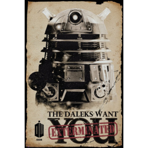 Plakát, Obraz - Doctor Who - Daleks Want You, (61 x 91,5 cm)