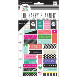 Washi aršík do Happy Planner 5 ks