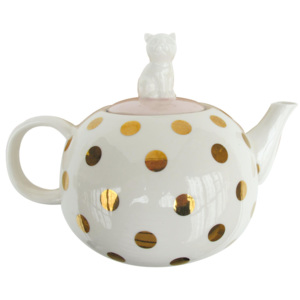 Disaster retro konvička s kočičkou Spotty Tea Pot