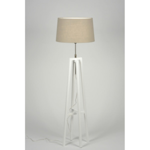 Stojací lampa Paola Brown Taupe and Bianco