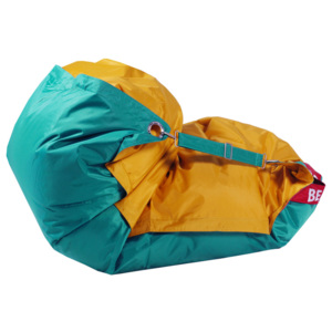 Beanbag Sedací vak 189x140 duo golden - sea green
