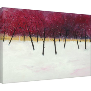 Obraz na plátně Stuart Roy - Red Trees on White, (80 x 60 cm)