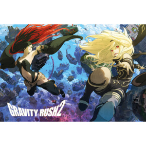 Plakát, Obraz - Gravity Rush 2 - Key Art, (91,5 x 61 cm)