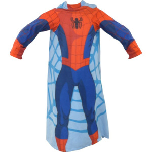 CTI Fleece deka Spiderman s rukávy 100/150 100x150 cm 100% Polyester