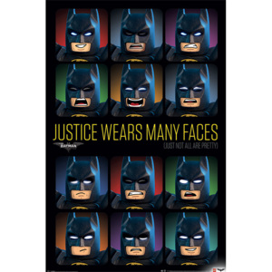 Plakát, Obraz - Lego Batman - Justice Wears Many Faces, (61 x 91,5 cm)