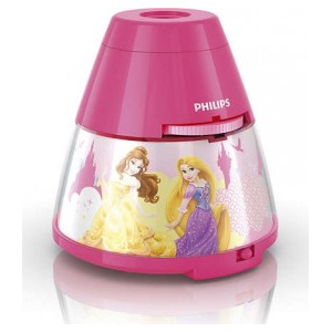 LED LAMPIČKA S PROJEKTOREM 2 v 1 Disney Princess 71769/28/16 - Philips