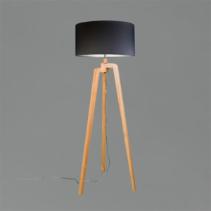 Stojací lampa Purro 50 Black and Wood